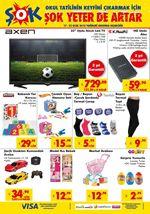ŞOK Market 17 - 23 Ocak 2018 Katalogu - Axen Uydu Alıcılı Led Tv