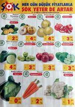 ŞOK Market Sebze Meyve Fiyatları - 17 Ekim ile 23 Ekim 2018 Arası