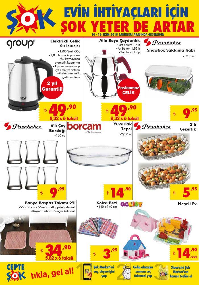 ŞOK 10 Ekim 2018 Aktüel Ürünler Kataloğu