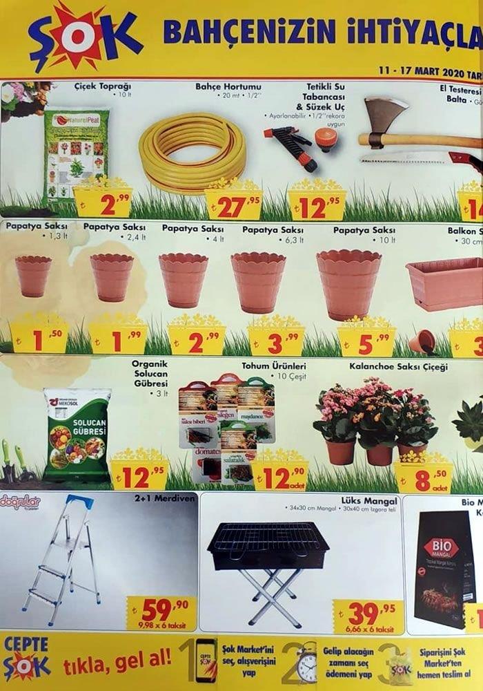 ŞOK 11 Mart 2020 Bahçe ve Çiçek Ürünleri