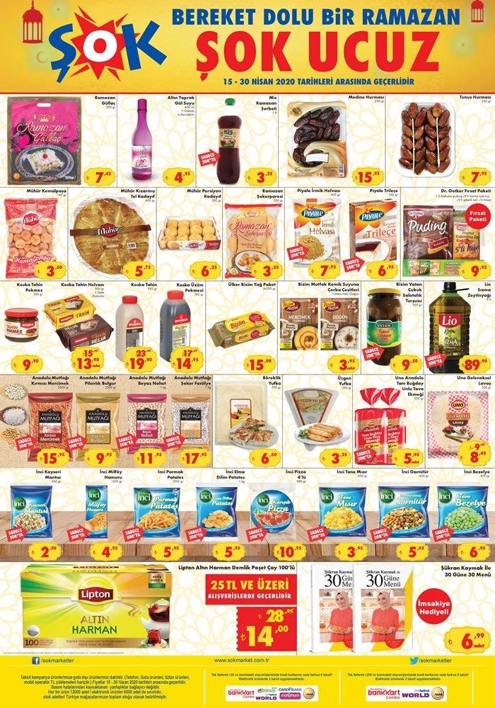 ŞOK 15 - 21 Nisan 2020 İndirimli Ürünler Kataloğu