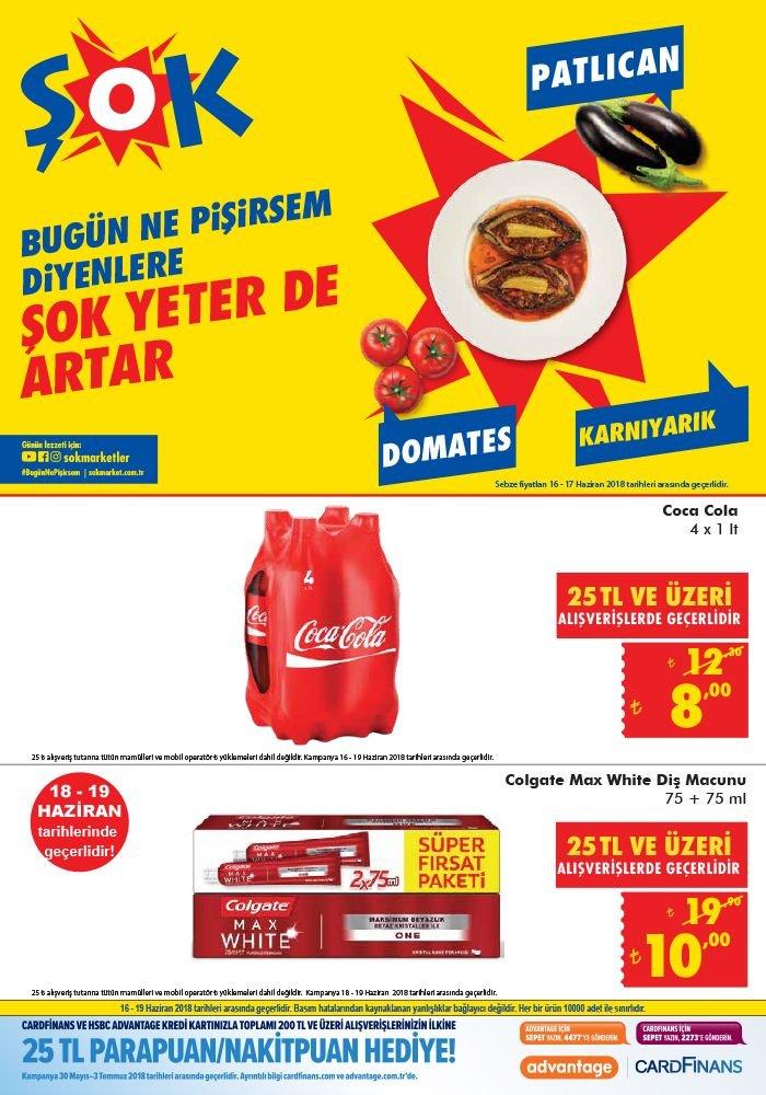 ŞOK 16 Haziran 2018 Fırsat Ürünleri Katalogu - Coca Cola