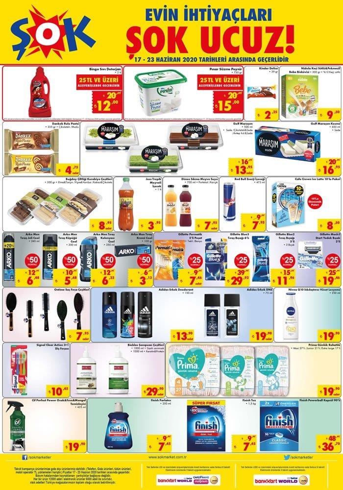 ŞOK 17 Haziran 2020 İndirimli Ürünler Kataloğu