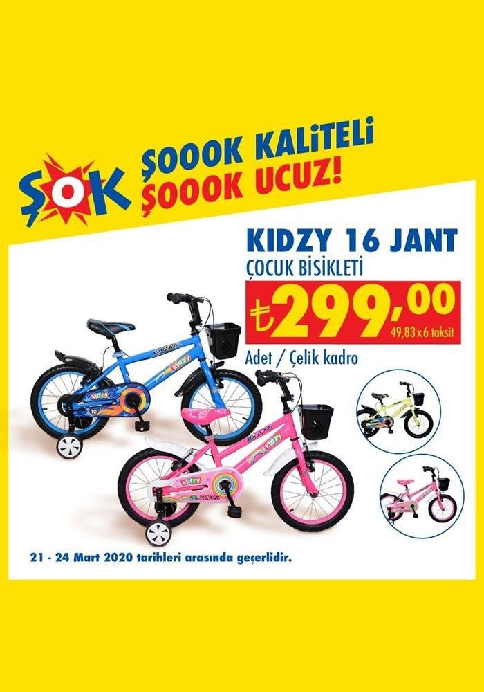 ŞOK 21-24 Mart 2020 Kampanyası - Kidzy 16 Jant Çocuk Bisikleti