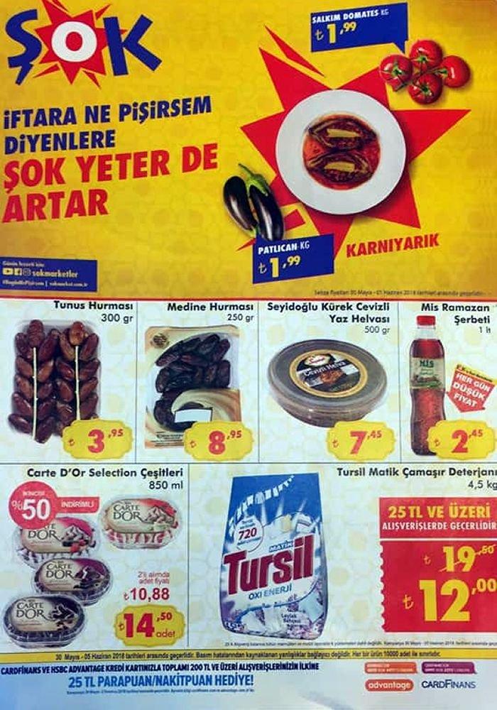 ŞOK 30 Mayıs 2018 Katalogu - Tursil Matik Çamaşır Deterjanı