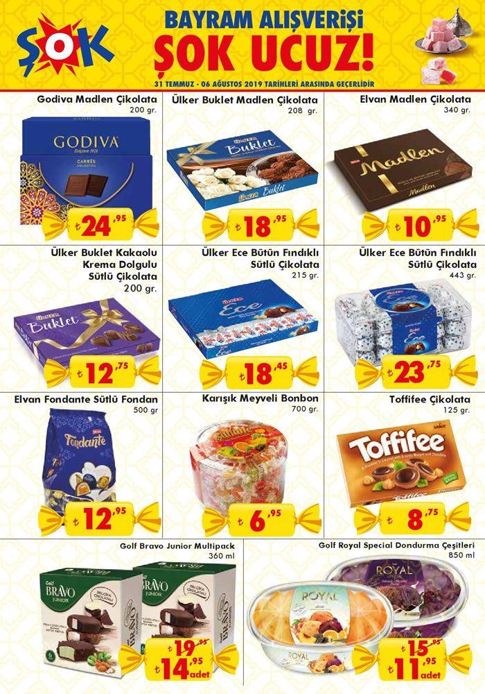ŞOK 31 Temmuz 2019 Kataloğu - Bayram Çikolataları