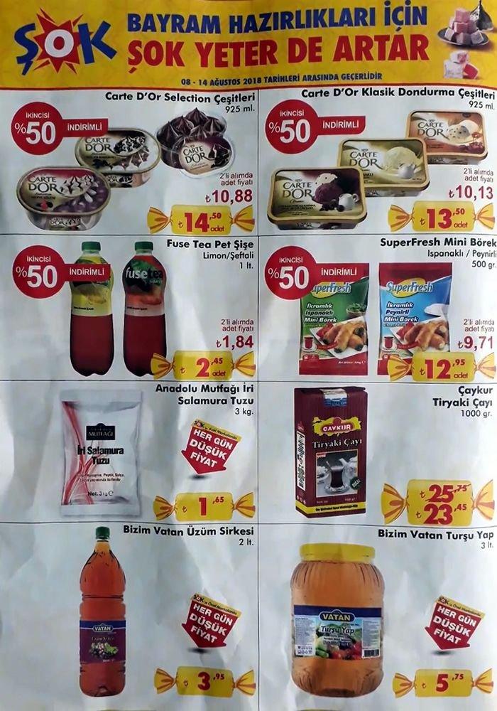 ŞOK 8 Ağustos 2018 Fırsat Ürünleri Kataloğu