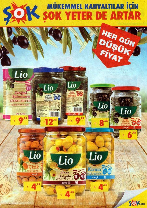 ŞOK Aktüel Ürünler 10 - 17 Ocak 2018 Katalogu - Lio Zeytin Fiyatları