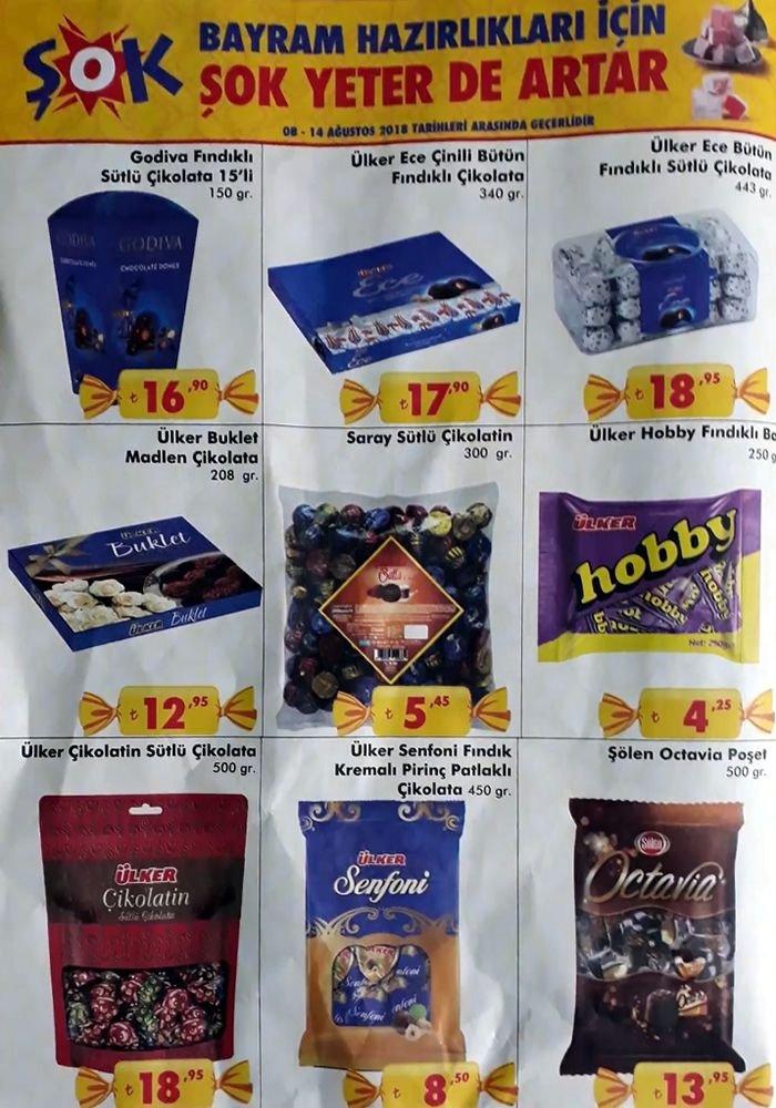 ŞOK Bayram Çikolatası Fiyatları - 8 Ağustos 2018