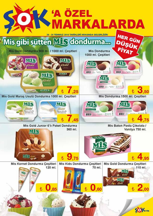 ŞOK Fırsatları 20-26 Temmuz 2016 Katalogu - Mis Dondurma