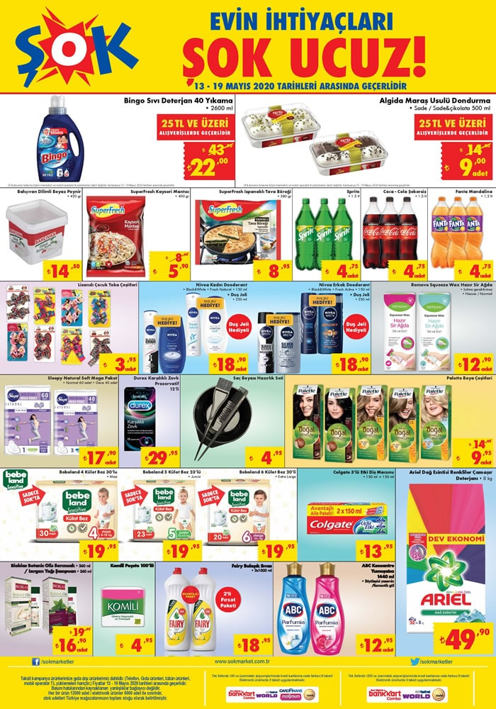 ŞOK Market 13 Mayıs 2020 Aktüel Kataloğu