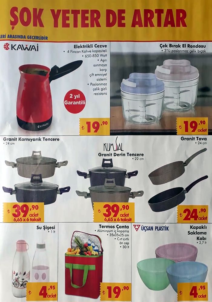 ŞOK Market 18 Temmuz 2018 Kataloğu - Çek Bırak El Rondosu
