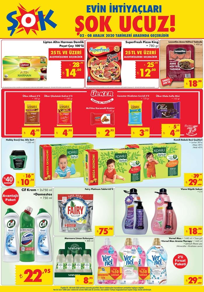 ŞOK Market 2 Aralık 2020 İndirimli Ürünler Kataloğu