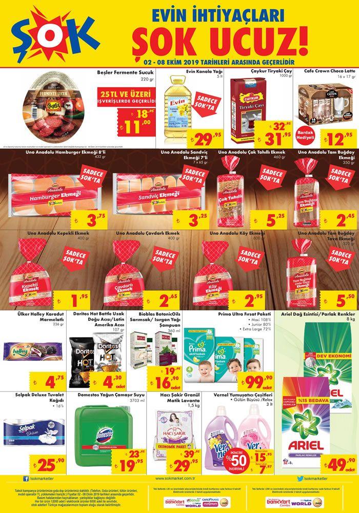 ŞOK Market 2 Ekim 2019 İndirimli Ürünler Kataloğu