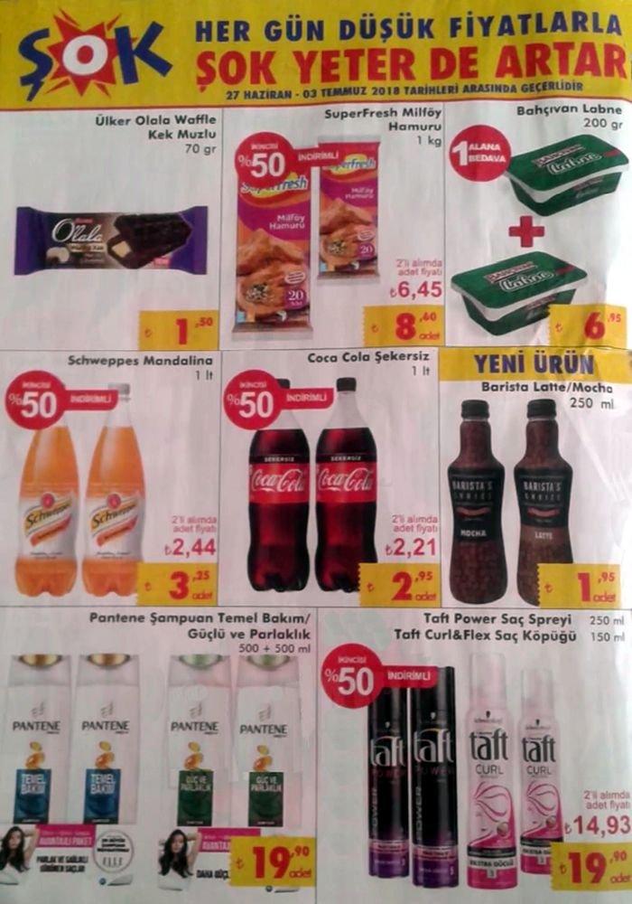 ŞOK Market 27.06.2018 Aktüel Kataloğu