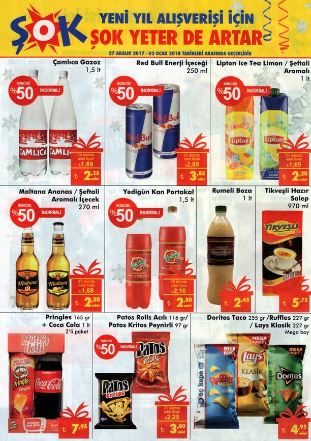 ŞOK Market 27 Aralık 2017 Yılbaşı Katalogu