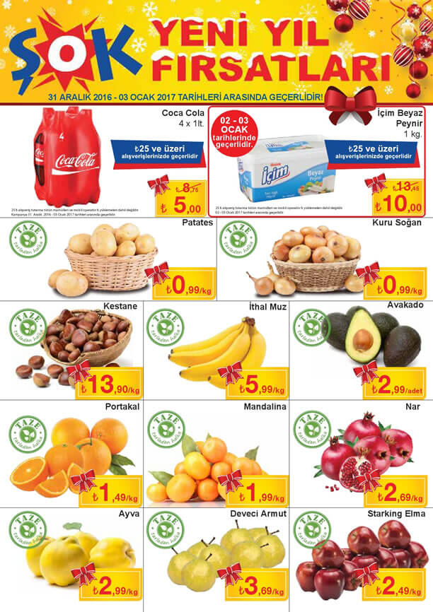 ŞOK Market 31 Aralık 2016 - 3 Ocak 2017 Katalogu - Coca Cola