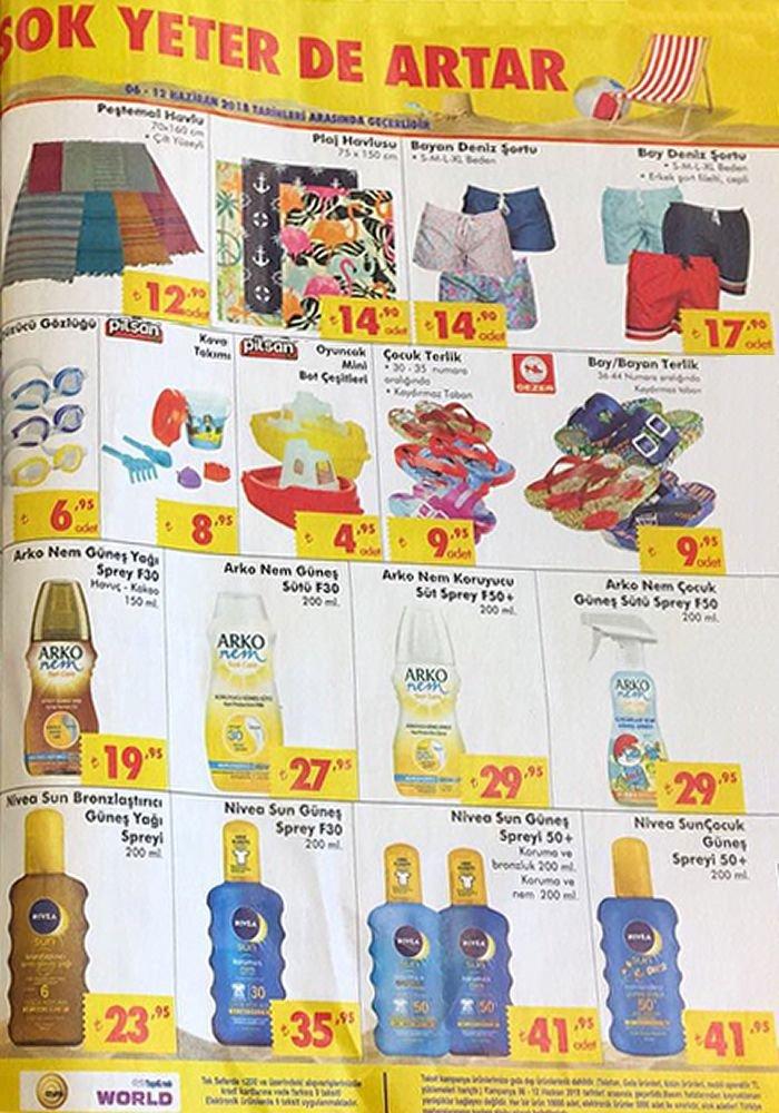 ŞOK Market 6 Haziran Katalogu - Güneş Kremi