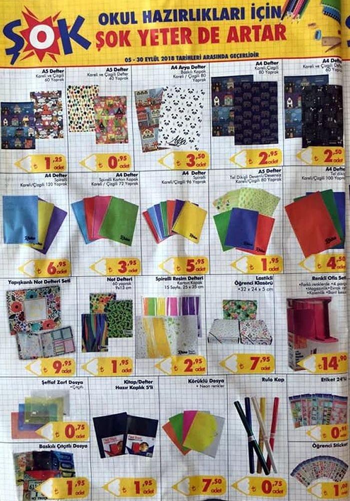 ŞOK Okul Malzemeleri - ŞOK Market 5 Eylül 2018 Kataloğu