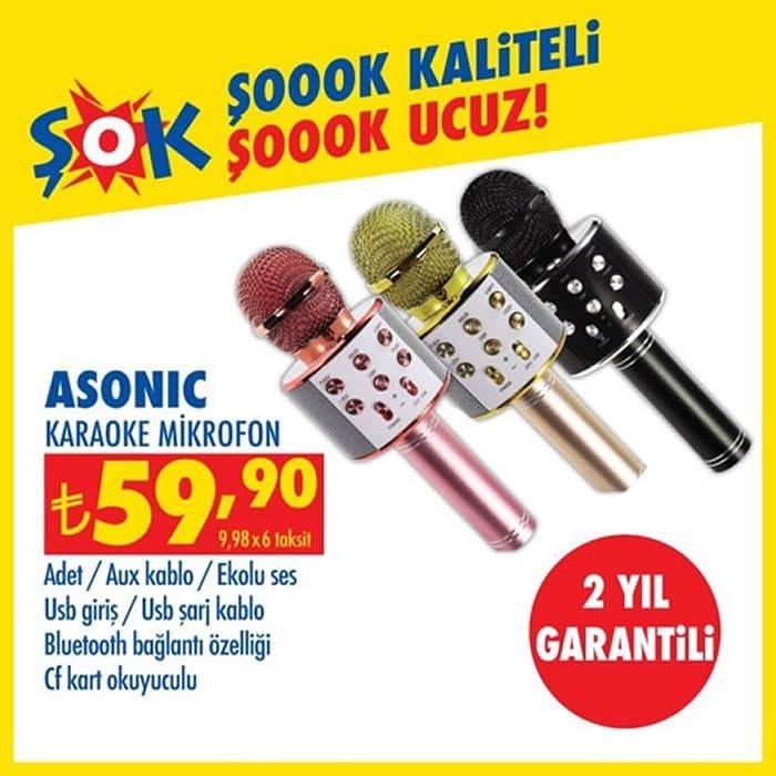 Asonic Karaoke Mikrofon ( ŞOK 6 Ocak 2021 )