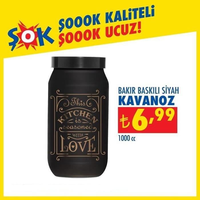 Bakır Baskılı Siyah Kavanoz 1000 cc ( ŞOK 11 Kasım 2020 )