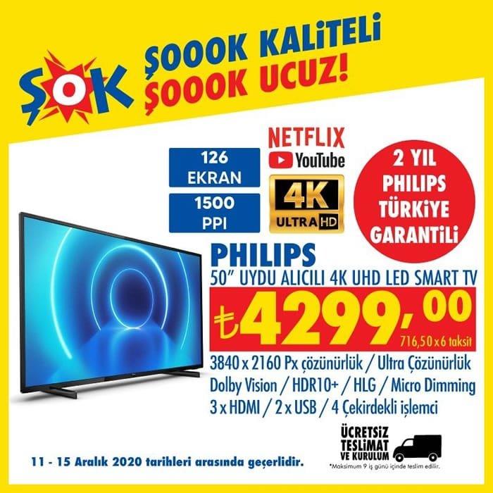 Philips 50inc Uydu Alıcılı 4K UHD Led Smart Tv ( ŞOK 11 Aralık 2020 )