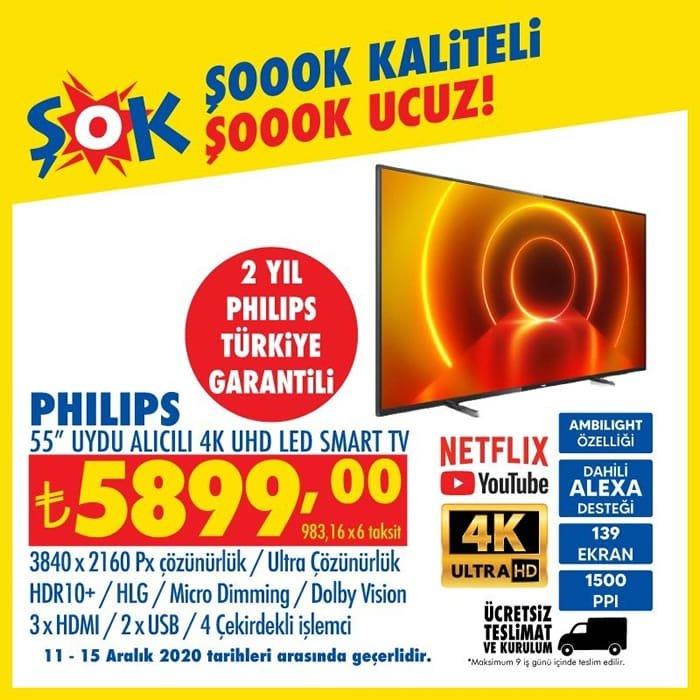 Philips 55inc Uydu Alıcılı 4K UHD Led Smart Tv ( ŞOK 11 Aralık 2020 )