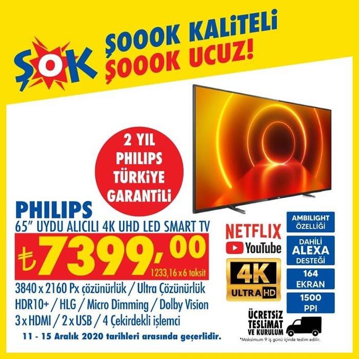 Philips 65inc Uydu Alıcılı 4K UHD Led Smart Tv ( ŞOK 11 Aralık 2020 )