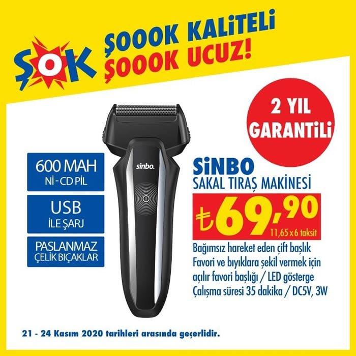 Sinbo Sakal Tıraş Makinesi ( ŞOK 21 Kasım 2020 )