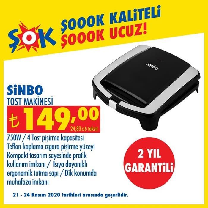 Sinbo Tost Makinesi ( ŞOK 21 Kasım 2020 )