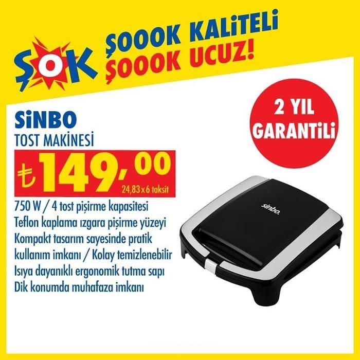 Sinbo Tost Makinesi ( ŞOK 24 Ekim 2020 )