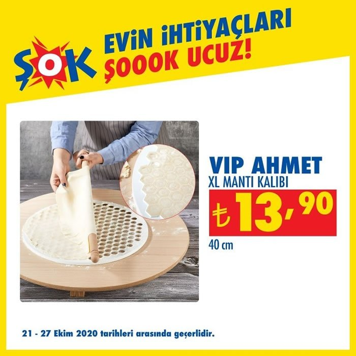 Vip Ahmet XL Mantı Kalıbı ( ŞOK 21 Ekim 2020 )